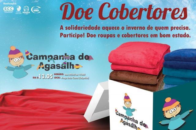 Cobertores também podem ser doados na Campanha do Agasalho 2017