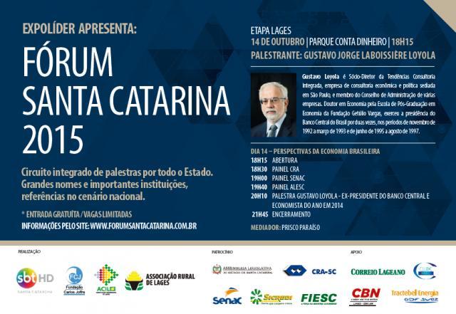 Três painéis e palestra com Gustavo Loyola nesta quarta-feira na Expolíder, no Parque Conta Dinheiro