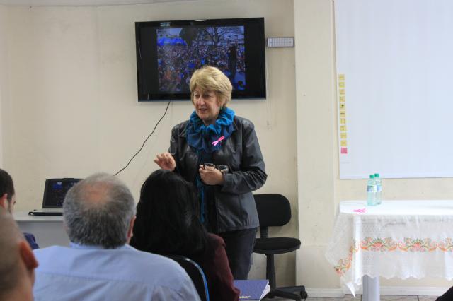 Reunião de avaliação e confraternização com parceiros da festa Criança na Praça